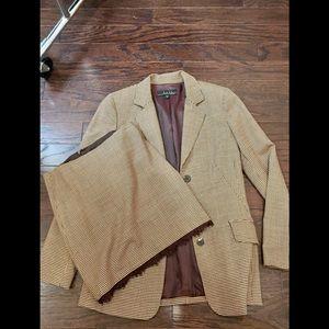 Vintage NICOLE MILLER tweed/lace suit